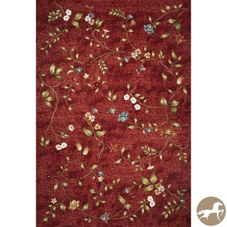 Christopher Knight Home Red Floral Area Rug (8'1 x 11'2)