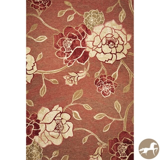 Christopher Knight Home Brick Red Flora Area Rug (3'4 x 4'11)