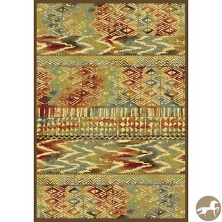Christopher Knight Home 'Coffee Tropez 8537' Abstract Multicolored Area Rug (3'3 x 4'7)
