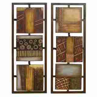 2-piece 35-inch High Metal Panel Wall Decor