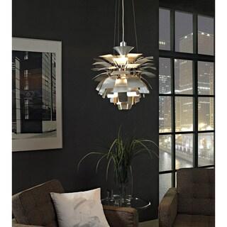 Artichoke-style 19-inch Silver Modern Chandelier Lamp