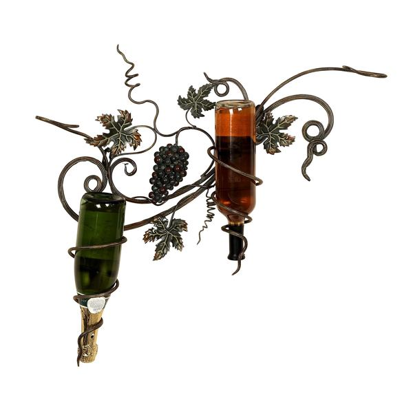 Grapes Metal Wall Wine Holder