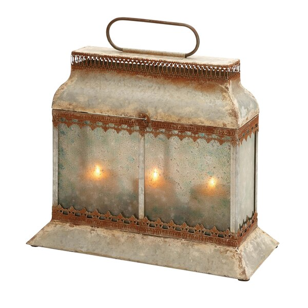 Antique Brown Candle Lantern
