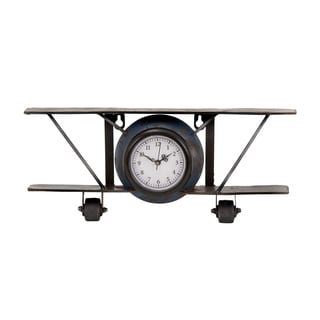 Glider Design Black Clock with Thick Frame and Dial