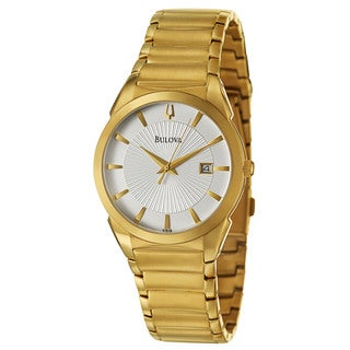 Bulova Men's 'Dress' Yellow Gold-Plated Stainless Steel Japanese Quartz Watch