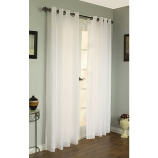 Rhapsody Lined European-style 84-inch Voile Curtain Panel Pair
