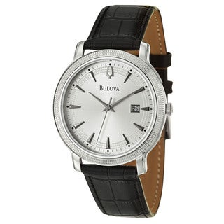 Bulova Men's 'Dress' Stainless Steel Quartz Watch