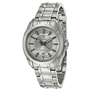 Bulova Men's 'Precisionist Longwood' Stainless Steel Quartz Watch