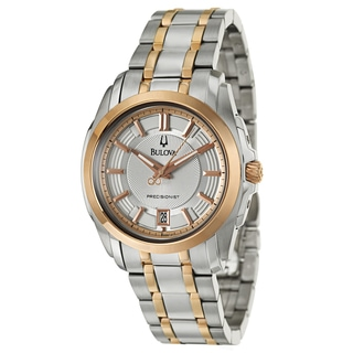 Bulova Men's 'Precisionist Longwood' Stainless Steel Automatic Watch