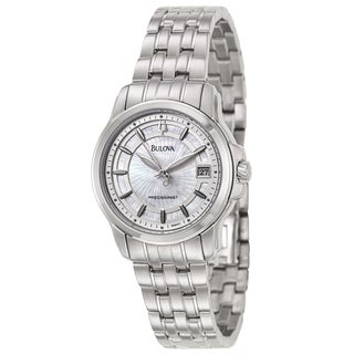 Bulova Women's 'Precisionist Langford' Stainless Steel Military Time Watch