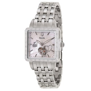 Bulova Women's 'BVA Series' Stainless Steel Military Time Watch