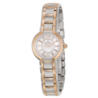 Bulova Women's 'Fairlawn' Rose Gold-Plated Stainless Steel Chronograph Watch