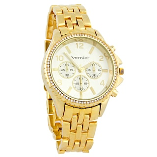 Vernier Women's Faux Chronograph Gold-Tone Bracelet Watch
