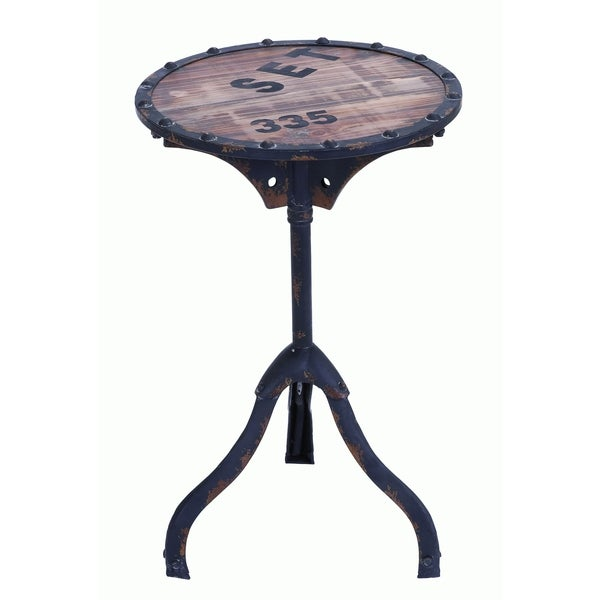 Rustic Industrial Style Accent Table 15938639