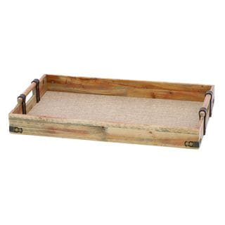 Artist Wood and Fabric Tray with Leather Straps