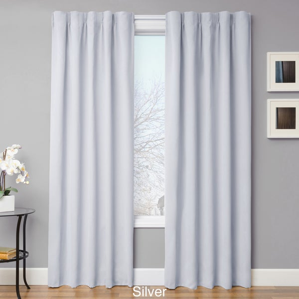"Simple Drape Blackout Curtain Panel Pair 96"" in Natural (As Is Item)"