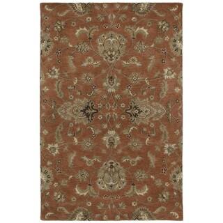Hand-tufted Royal Taj Copper Wool Area Rug (2' x 3')