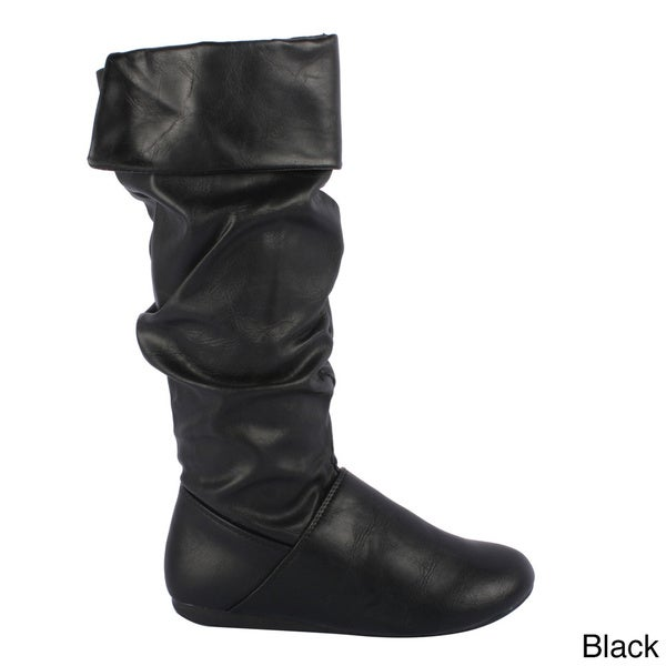 FOREVER Women's 'Seline-29' Fold-over Slouch Knee-high Boots