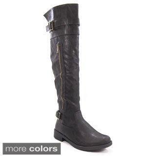 Forever Women's 'Moto-23' Over-the-Knee Riding Boots