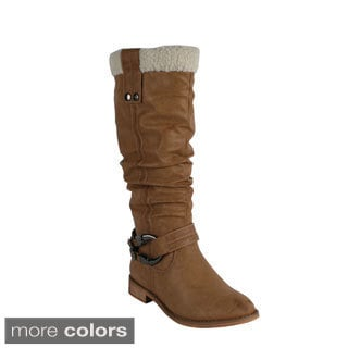 Blossom Women's 'INGRID-1' Knee-high Riding Boots Today: $52.99 3.3 (3