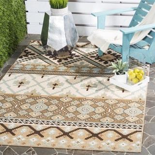 Safavieh Indoor/ Outdoor Veranda Cream/ Brown Rug (2'7 x 5')