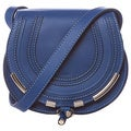 Chloe 'Marcie' Mini Sea Water Blue Leather Crossbody Bag
