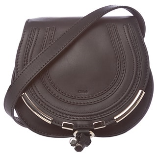 Chloe 'Marcie' Mini Black Leather Crossbody Bag