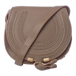 Chloe 'Marcie' Mini Olive Leather Round Crossbody Bag