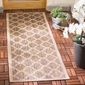 Safavieh Indoor/ Outdoor Courtyard Brown/ Bone Rug (2'3 x 10')