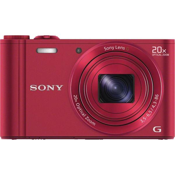 Sony Cyber Shot DSC-WX300 18.2MP Wi-Fi Red Digital Camera