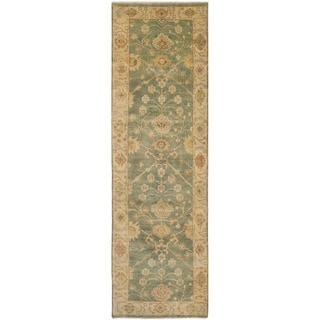Safavieh Hand-knotted Oushak Medium Blue/ Green Wool Rug (3' x 10')