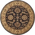 Safavieh Handmade Persian Court Navy Wool/ Silk Rug (4' Round)