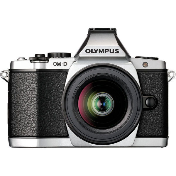Olympus OM-D E-M5 Mirrorless Micro Four Thirds Digital Camera Silver Body with 12-50mm Lens