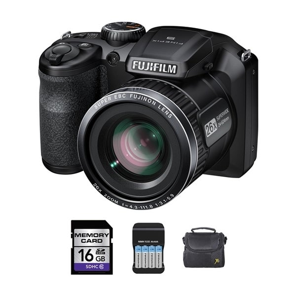 FujiFilm Finepix S4600 16MP Black Digital Camera 4GB Bundle