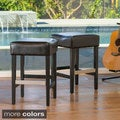 Tate Backless Leather Counter Stool (Set of 2)