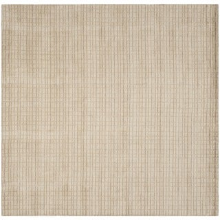 Safavieh Hand-loomed Himalaya Beige Wool Rug (7' Square)