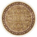 Safavieh Hand-knotted Dynasty Gold/ Red Wool Rug (8' Round)