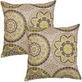 Color Wheel Onyx 17-in Throw Pillows (Set of 2)