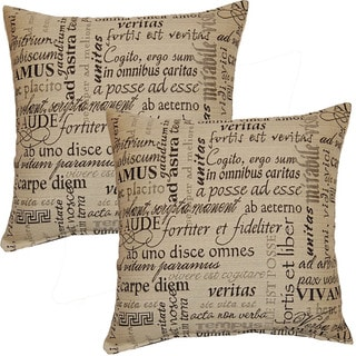 Trilogy Ivory 17-in Throw Pillows (Set of 2)
