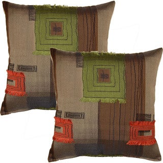 Fil Rock Limeade 17-in Throw Pillows (Set of 2)
