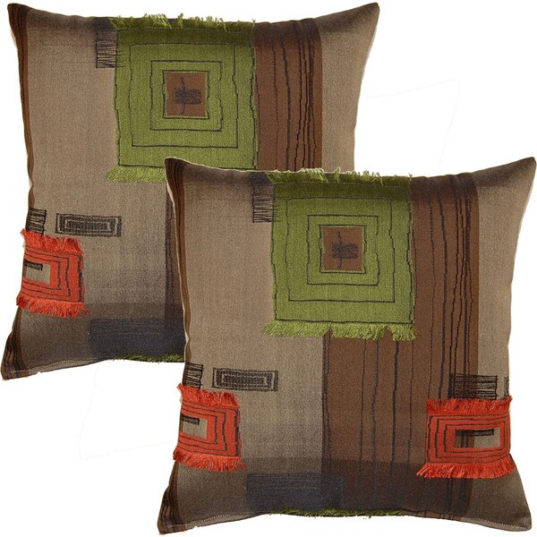 Fil Rock Limeade 17-in Throw Pillows (Set of 2)
