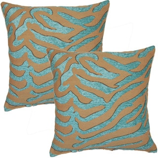 Cwaggao Turquoise 17-inch Throw Pillows (Set of 2)