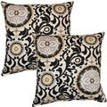 Celestial Sun Night Fall 17-inch Throw Pillows (Set of 2)