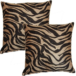 Jane Bronze 17-inch Throw Pillows (Set of 2)