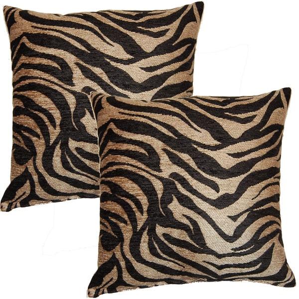 Jane Bronze 17-inch Throw Pillows (Set of 2)