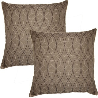 Mardi Gras Grey 17-inch Throw Pillows (Set of 2)