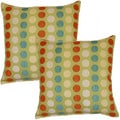 Coins Lime 17-inch Throw Pillows (Set of 2)