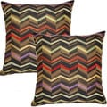 Illusion Ebony 17-inch Throw Pillows (Set of 2)