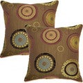 Inca Lime 17-inch Throw Pillows (Set of 2)