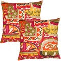 Coachella Poppy 17-inch Throw Pillows (Set of 2)